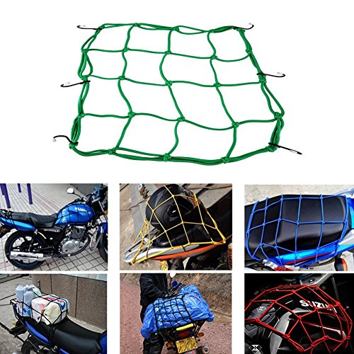 Baynne Motorbike Motorcycle Cargo 6 Hooks Hold Down Net Bungee Baggage Luggage Band (Net Wind Solar)