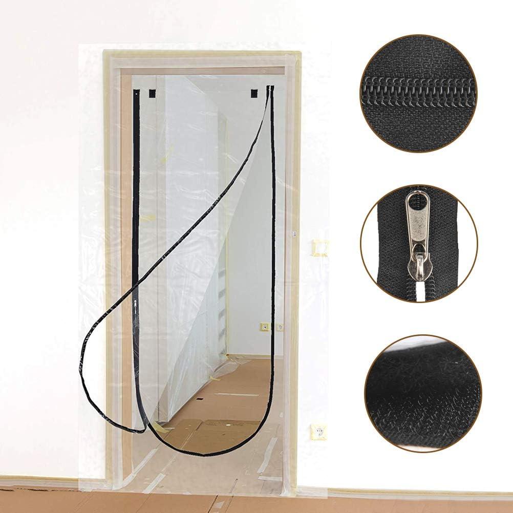 TIMESETL Porta antipolvere 43x82 pollici Porta trasparente con cerniera a forma di U Goditi unestate fresca e un inverno caldo