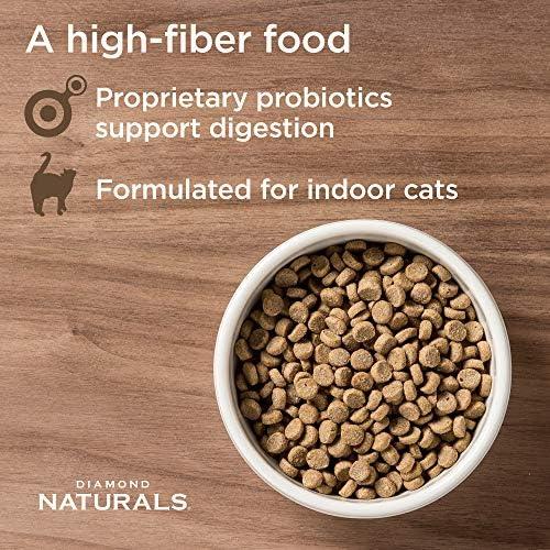 Diamond Pet Foods INDCAT18 Naturals Comida seca para gatos adultos, fórmula de pollo con control de bolas de pelo para interiores, bolsa de 18 libras 6