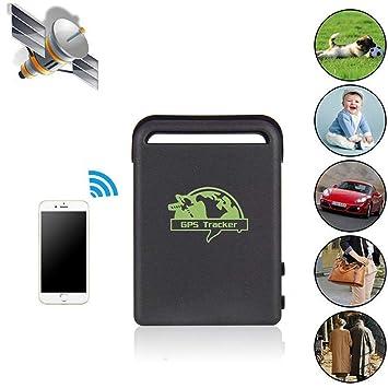 Hangang Mini GPS del Coche GPS localizador, portátil GPS de Seguimiento de Personas Mayores, Rastreador de GPS con SOS Botón para Vehículo Carro de ...