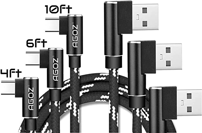 USB TypeC Wall Charger Black 10ft Grey Braided Cable Compatible with Nokia 7.1