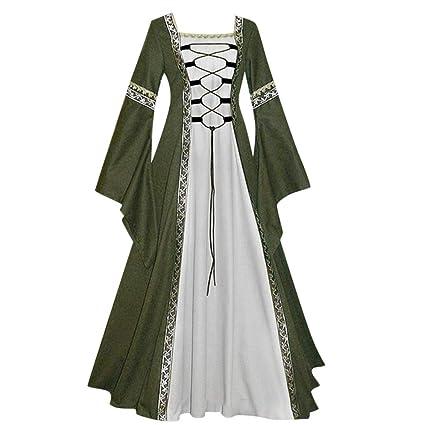 Vestido de Princesa Medieval Retro-Estilo Corte SUNNSEAN Vestido ...