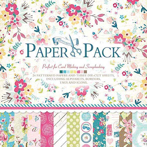 IDULL Floral Scrapbook Paper 12x12 Cardstock (Green -