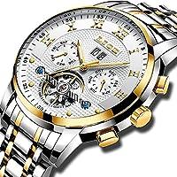 Watches Mens Full Steel Mechanical Wrist Watch Men Luxury Brand LIGE Waterproof Date Business White Gold Watch