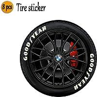 LAUTO Pegatinas de neumáticos,Etiquetas engomadas del neumático del