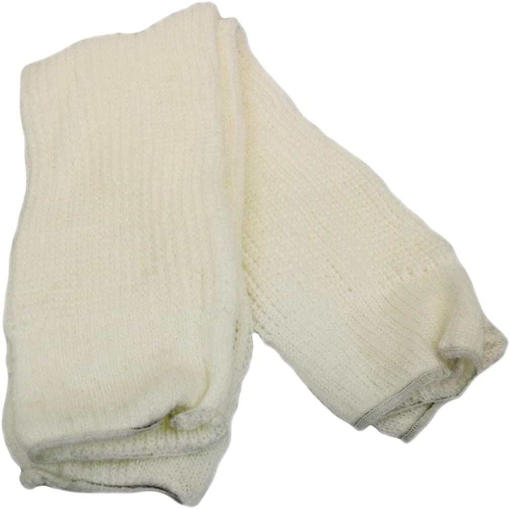 Womens Leg Warmers Acrylic Solid Color Knit White Made in U.S.A.