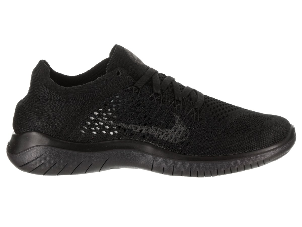 Nike Women's Free Rn Flyknit 2018 Running Shoe (6 M US, Black/Anthracite) by Nike (Image #5)