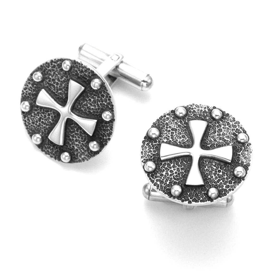 Sterling Silver Cross Cuff Links