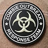 Zombie Outbreak Response Team AWESOME GLOW IN THE DARK - PVC Rubber Morale Patch - Velcro Morale Patch By NEO Tactical Gear