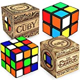 aGreatLife Speed Cube Brain Teaser Bundle: 3x3x3 Cube and 2x2x2 Cuby - Best for Party Favors, Gifts for Grandparents and Grandkids, A Perfect Non-Tech Activity