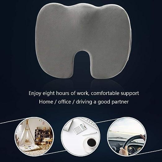 Amazon.com: Orthopedic Memory Foam Seat – Non-Slip Orthopedic 100% Memory Foam,for Office Chair Car Seat – Back Pain & Sciatica Relief (Gray): Sports & ...