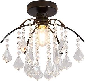 YYJLX Mini Chandelier Light Fixture Modern Crystal Ceiling Lamp Lighting Bedroom Hallway Bar Kitchen Bathroom
