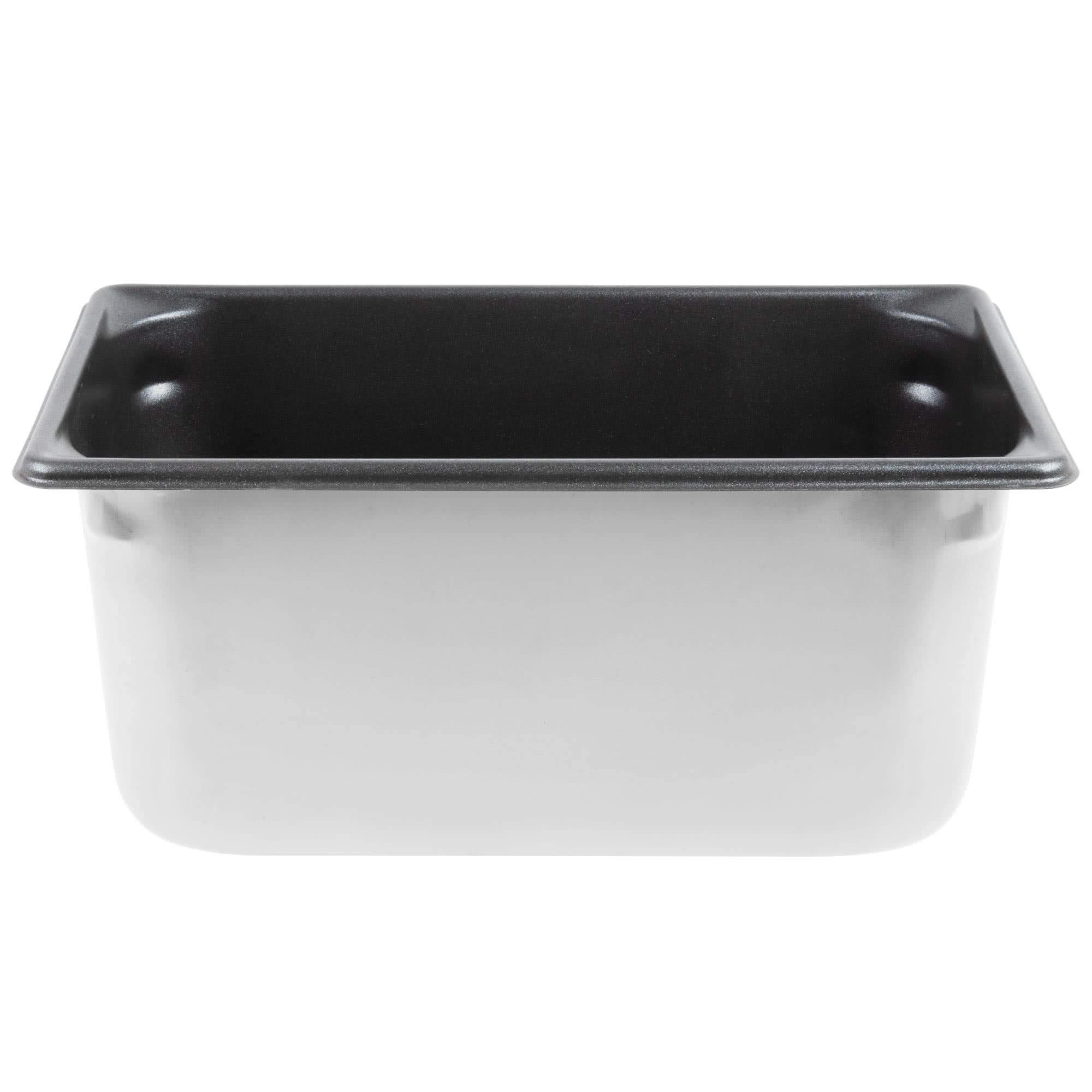 TableTop King 70362 Super Pan V 1/3 Size Anti-Jam Stainless Steel SteelCoat x3 Non-Stick Steam Table/Hotel Pan - 6'' Deep by TableTop King
