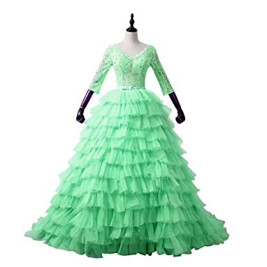 XPLE Pregnant Lace Up Cloud Ruffles Organza Puffy Prom Dresses Pageant Dress Evening Party Gown 2018
