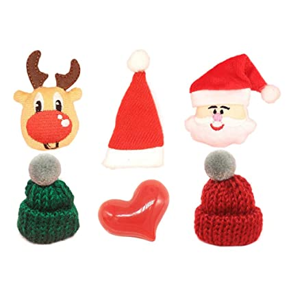 ac5e33bea52 Image Unavailable. Image not available for. Color  STOBOK 30pcs Christmas  DIY Ornaments kit with Santa Reindeer hat ...