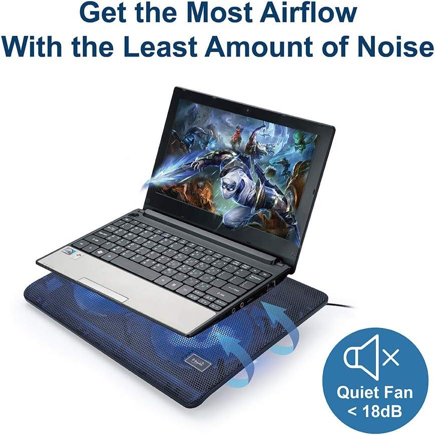 f/ür Gaming ergonomisches Design 17,8 cm 35,6 cm Zwei 125 mm Turbinenventilatoren 35,6 cm 7 Zoll Dual-USB-2.0-Anschl/üsse reduziert Hitze C5 Leiser Laptop-K/ühler-Pad-St/änder 14 Zoll