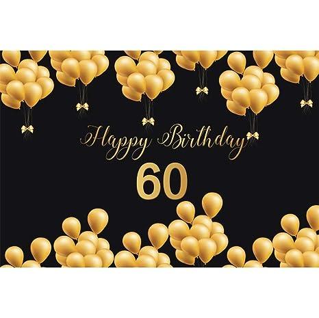 YongFoto 2,2x1,5m Cumpleaños Fotografía Fondo Feliz 60 ...