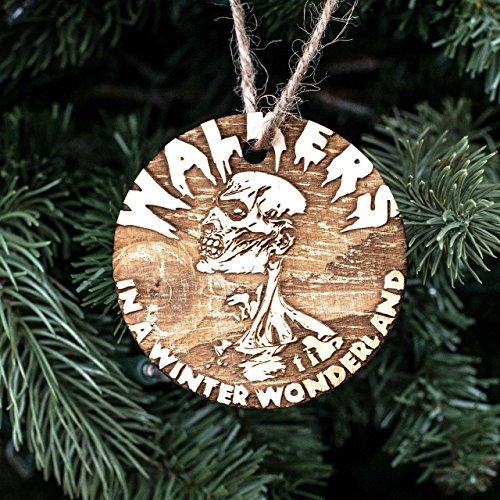 (Ornament - Walkers in a Winter Wonderland - Raw Wood 3x3in)