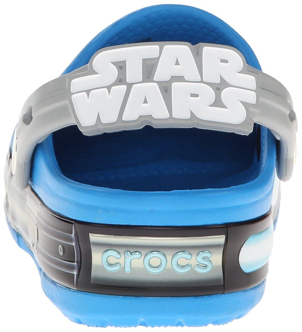 Crocs Kids Crocslights Star Wars Jedi Light-Up Clog Toddler//Little Kid Ocean//Light Grey 8 M US Toddler 16270 LIGHTS STAR WARS JEDI K
