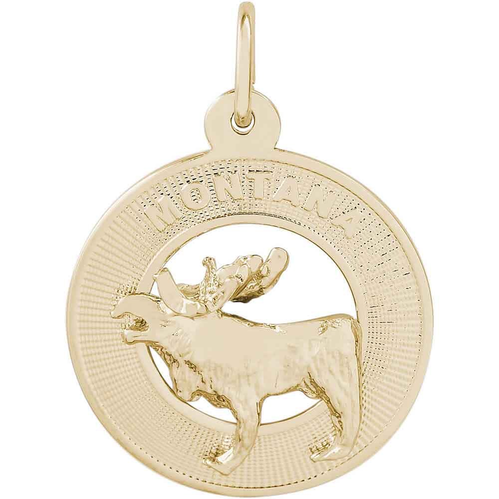 Rembrandt Charms Montana Charm, Gold Plated Silver