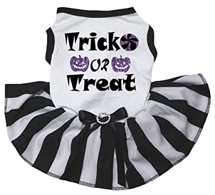 d34ac251b043 Large Pet Supplies Petitebella Pet Supply Black and Purple Cotton T-Shirt  Dog Dress for Halloween