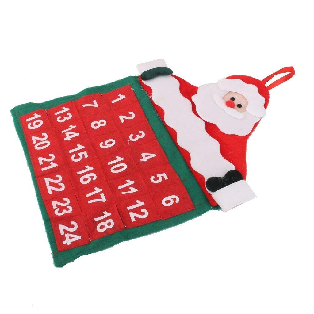 calendar 3 Christmas Advent Calendar Countdown Santa Claus Tree Fabric Xmas Decor Pockets Gift