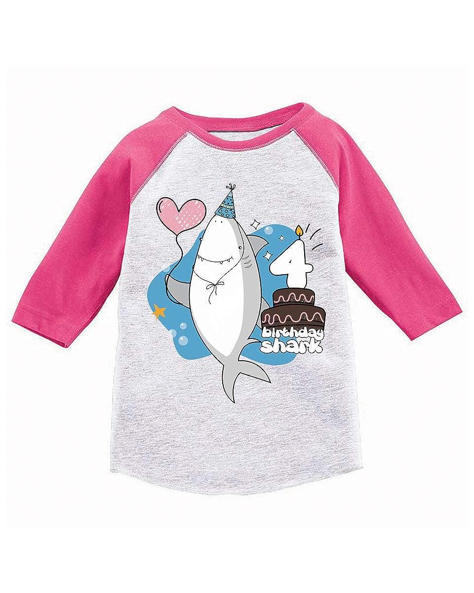 Awkward Styles 4th Bday I am Four Shark Raglan for Boys Shark Themed Party Shark T Shirt