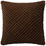 Loloi  Accent  Pillow  DSETP0125BR00PIL3  100%  Cotton  Velvet  Cover  with  Down  Fill    22''  x  22''  Brown