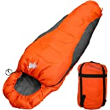 WhiteSeek 寝袋 シュラフ マミー型 コンパクト収納 抗菌仕様 限界温度-7℃ 1500g
