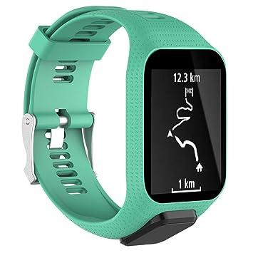 Correa de silicona Bescita, repuesto para reloj inteligente deportivo GPS TomTom Spark 3, color