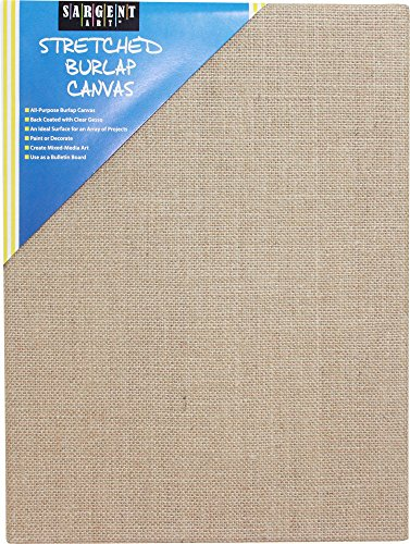 Sargent Art 90-2029 Stretched Burlap Canvas, 12 x 16