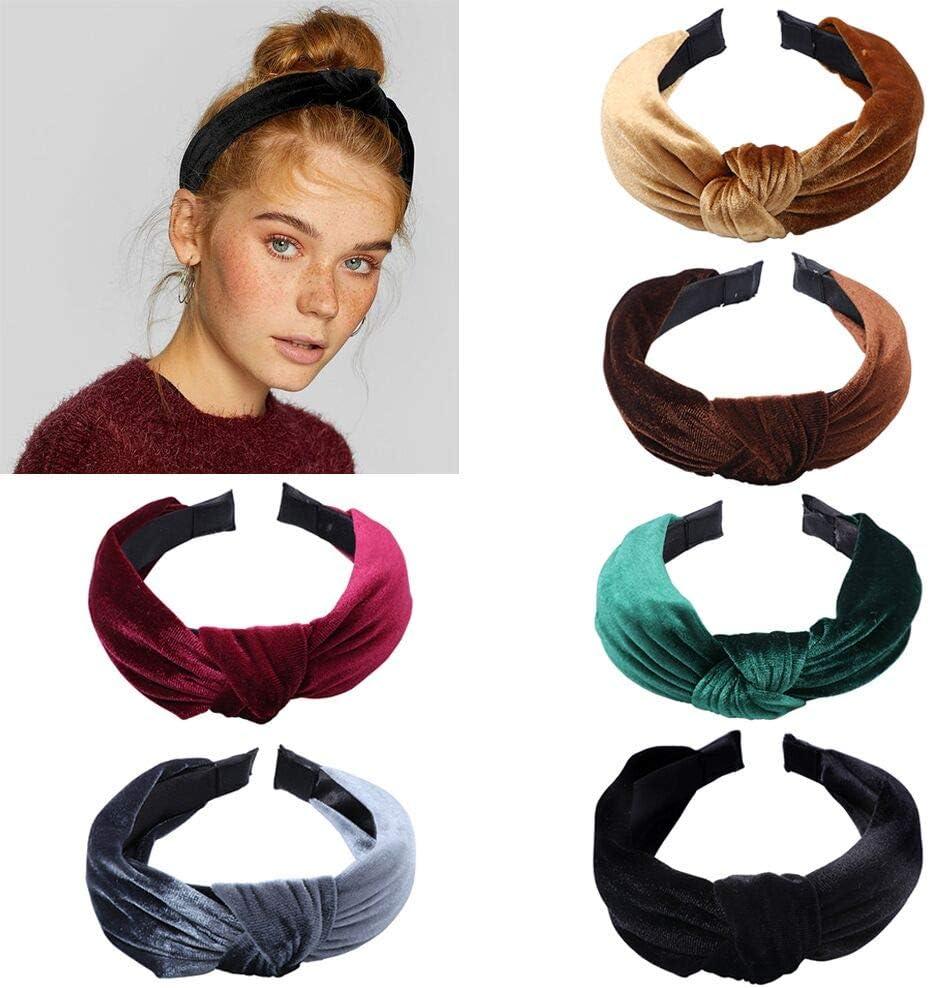 Simple Pearl Knotted Headband Band Top Knot Twist Plain Headband Hair Bands UK