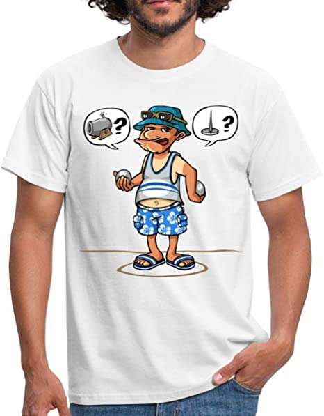 T-Shirt p/étanque Humour JAi Les Boules Tee-Shirt Homme Coton col Rond.