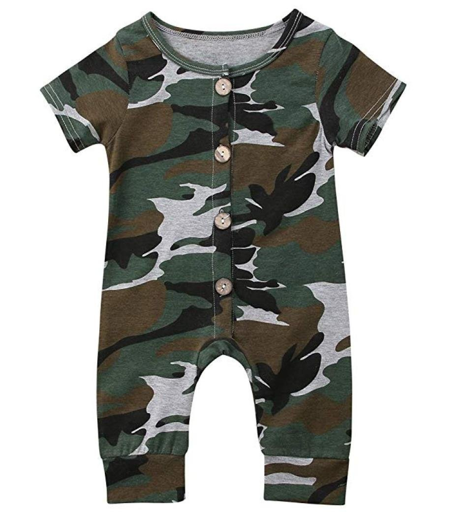 Culater 2018 ❤️❤Infant Ragazzi T-Shirt Camouflage Tuta a Manica Corta Stampata a Manica Corta Tuta ❤️❤ Abiti Abiti Set per maschietti MK-1203