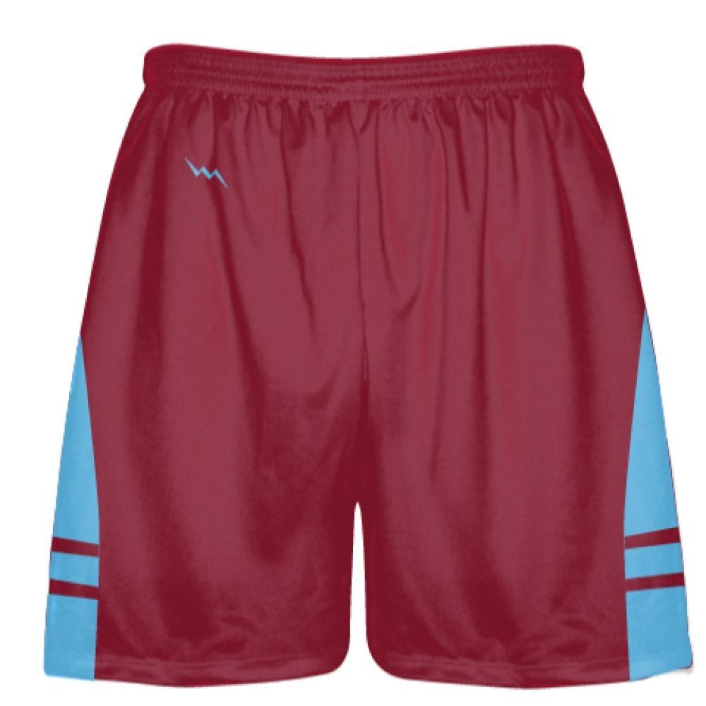 Youth Cardinal Red Light Blue OG Lacrosse Shorts Mens Boy Lacrosse Shorts Youth Cardinal Red