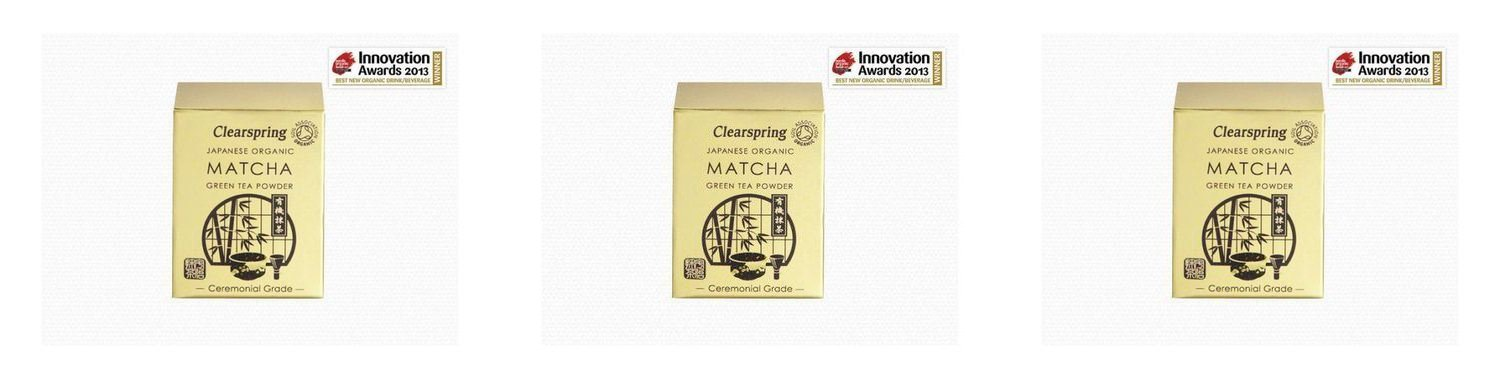 (3 PACK) - Clearspring Matcha Green Tea Powder (Ceremonial Grade)| 30 g |3 PACK - SUPER SAVER - SAVE MONEY