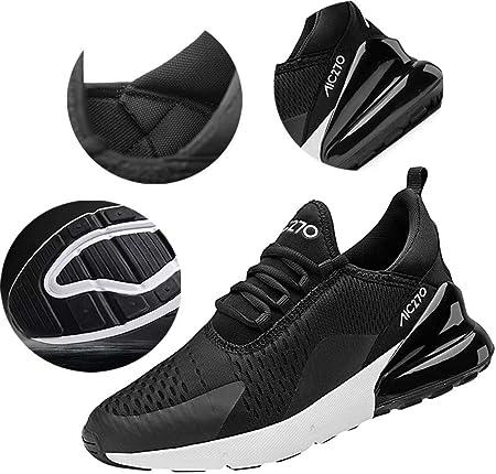 Zapatillas Running Hombre Antideslizantes Ligeras Zapatillas de Correr Casual para Deportivas de Malla
