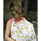 HOT DEAL!! Pack of 2 BreastFeeding Nursing Cover .100% Breathable Cotton & Storage Side Pocket