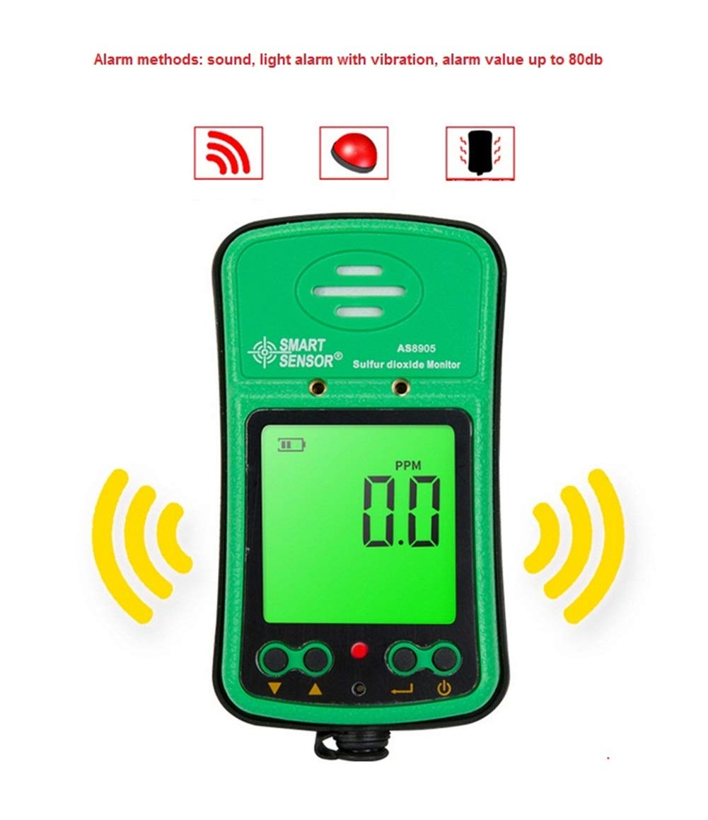 Portable SO2 Gas Monitor Tester 0~20ppm Digital LCD Display Rechargeable Li-Battery Powered Alarm Handheld Sulfur Dioxide Gas Detector Analyzer Sensor ...