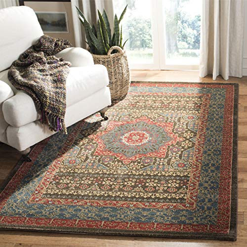 Safavieh Mahal Collection MAH620C Traditional Oriental Navy and Red Area Rug (5'1