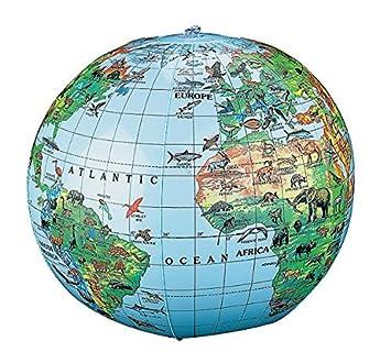 Amazon inflatable animal world globe beach ball toys games inflatable animal world globe beach ball gumiabroncs Images