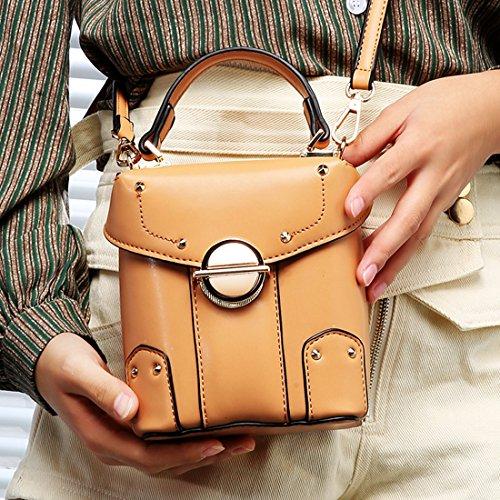 mano Mujer de bolso Minotta elegante de MinottaUKD6074 Sintético Marrón qwZTtBHFx