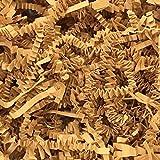 Black Cat Avenue 1 LB Cognac Crinkle Cut Paper Shred Filler For Gift Wrap and Basket Filler