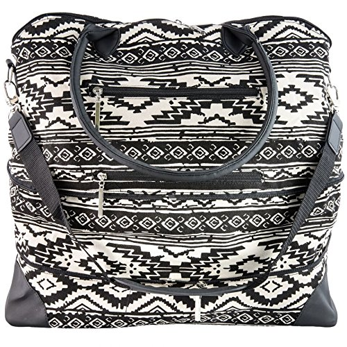 The Hailey by j/fit - Tribal Print Travel Bag (J Fit Yoga Mat Shoulder Tote)