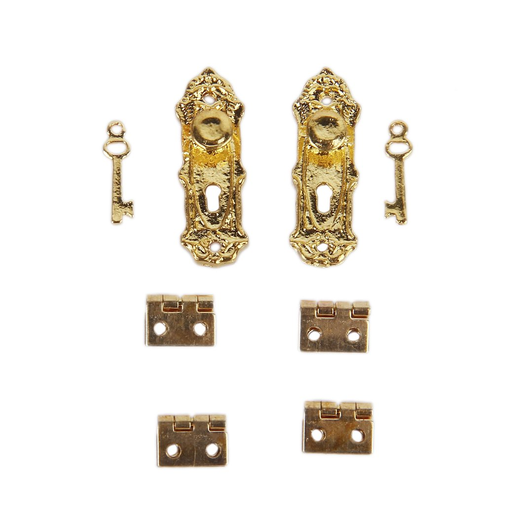 Amazon.com: 12pcs Cabinet Closet Mini Hinge For 1/12 Dollhouse Miniature  Furniture   Golden: Toys U0026 Games