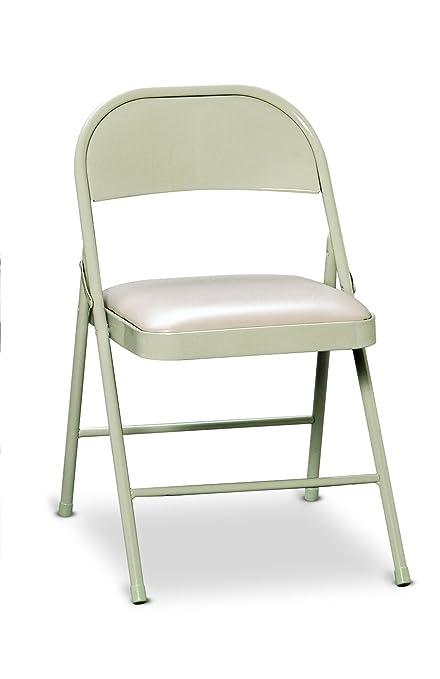 amazon com hon fc02lbg steel folding chairs with padded seat light