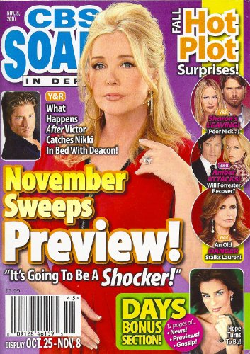Meldoy Thomas Scott, Sean Kanan, Penn Badgley, Young and the Restless, Scott Clifton, Soap Opera Halloween Costumes - November 5, 2010 CBS Soaps in Depth Magazine