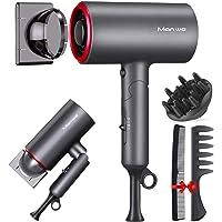 Manwe Secador de pelo profesional , 2 Velocidades y 3 Temperaturas,secador de pelo de iones…