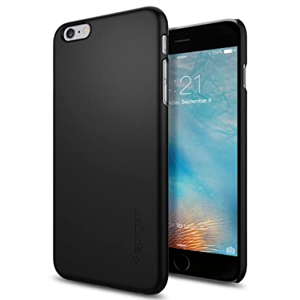 Spigen Thin Fit Hybrid Designed for Apple iPhone 6S Plus Case (2015) - Black