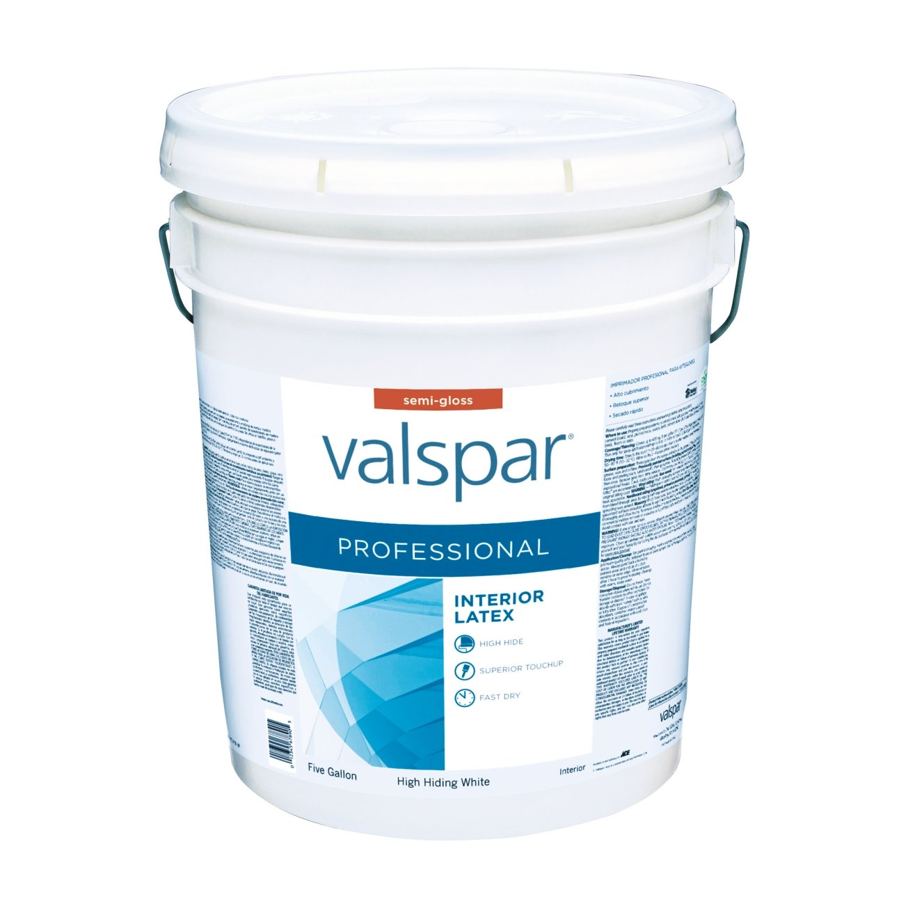 Valspar Paint Interior Semi Gloss High Hiding White 5 Gl - Household Paints And Stains - Amazon.com